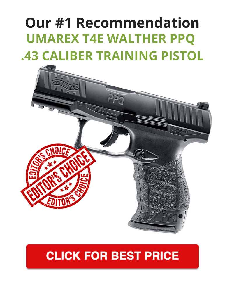 Umarex T4E Walther PPQ .43 Caliber Training Pistol - Best Paintball Training Pistol
